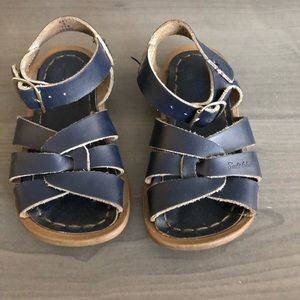 Blue salt water sandals size 6